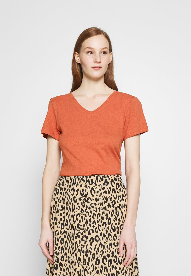 Zign - Basic T-shirt - light red