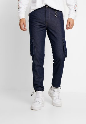 JJIVEGA JJUTILITY - Jeans slim fit - blue denim