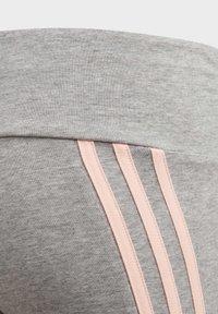 adidas Performance - STRIPES COTTON LEGGINGS - Collant - grey - 3
