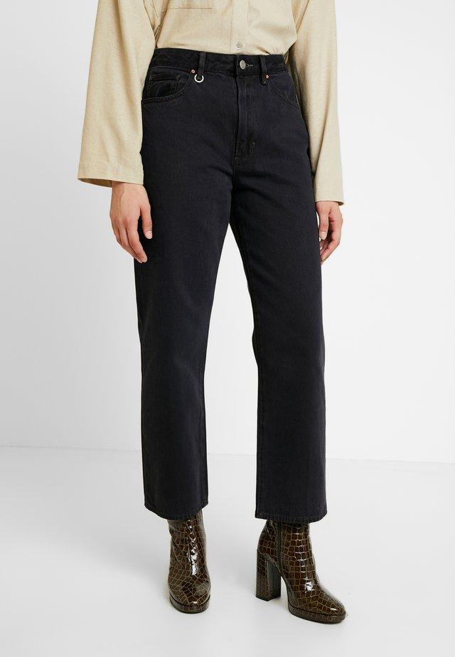 EDIE - Straight leg jeans - noir