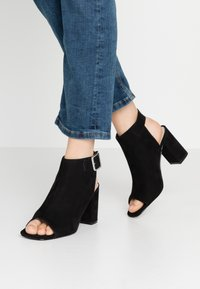 Nly by Nelly - OPEN TOE CITY  - High heeled sandals - black - 0
