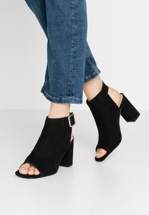 OPEN TOE CITY  - High heeled sandals - black