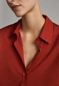 Massimo Dutti - Button-down blouse - red - 3