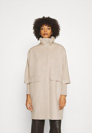 Klasický kabát - beige melange