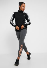 adidas Performance - LIN - Tights - dark grey heather - 1