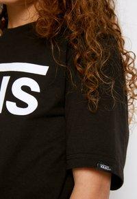 Vans - CLASSIC BOYS - T-shirt print - black/white - 5