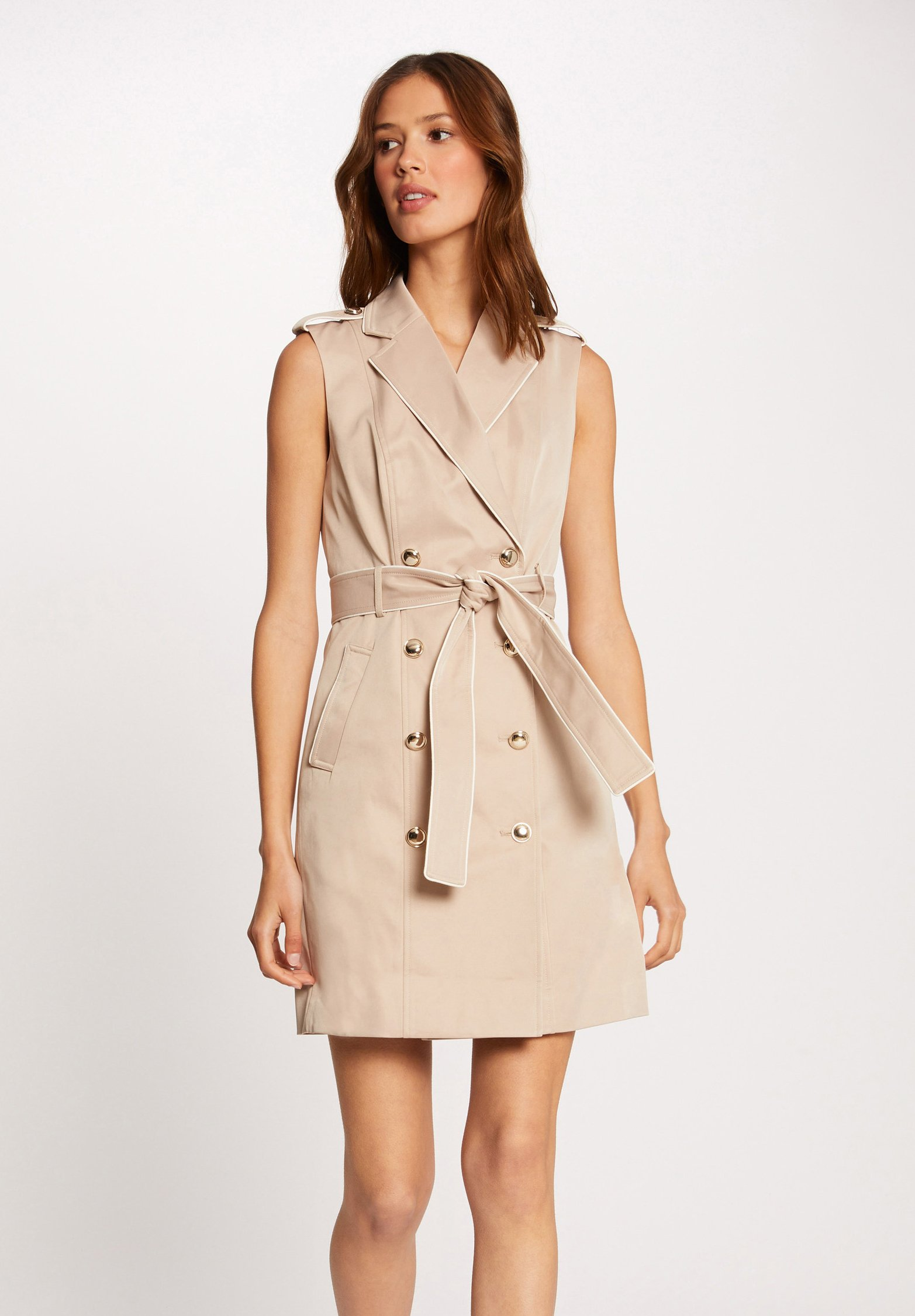 Femme BUTTONED SLEEVELESS WRAP  - Robe chemise