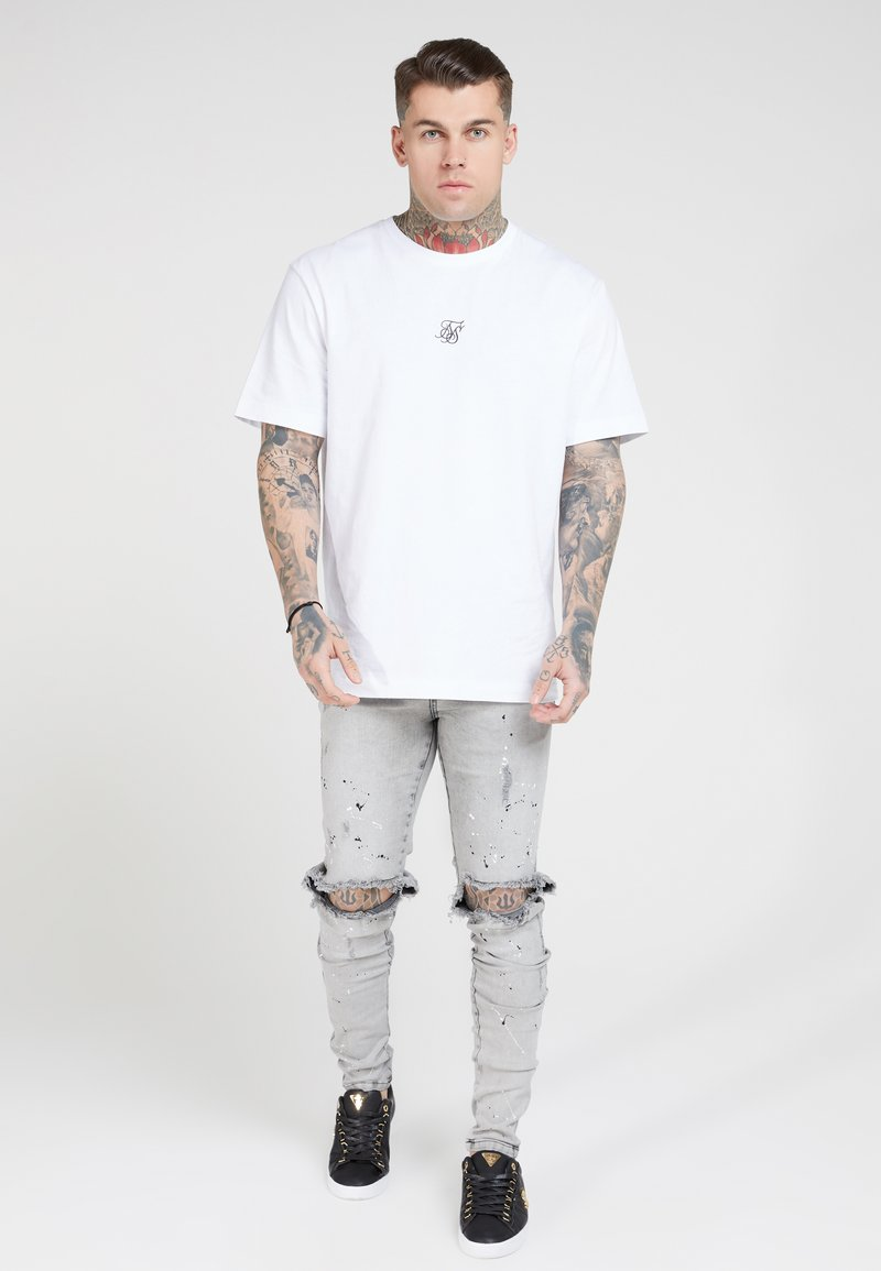 SIKSILK - BUST KNEE RIOT - Jeans Skinny Fit - washed grey