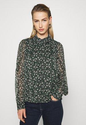 VMALMINA - Button-down blouse - black/green ditsy