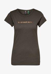 G-Star - EYBEN GRAW FOIL - T-shirt basic - asfalt - 4