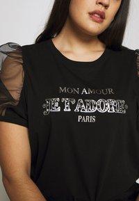 River Island Plus - J'ADORE - Camiseta estampada - black - 5