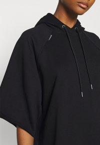 G-Star - LONG HOODED DRESS - Maxi dress - dark black - 4