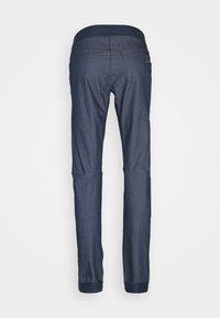 Salomon - WAYFARER ALPINE - Długie spodnie trekkingowe - mood indigo/white - 1