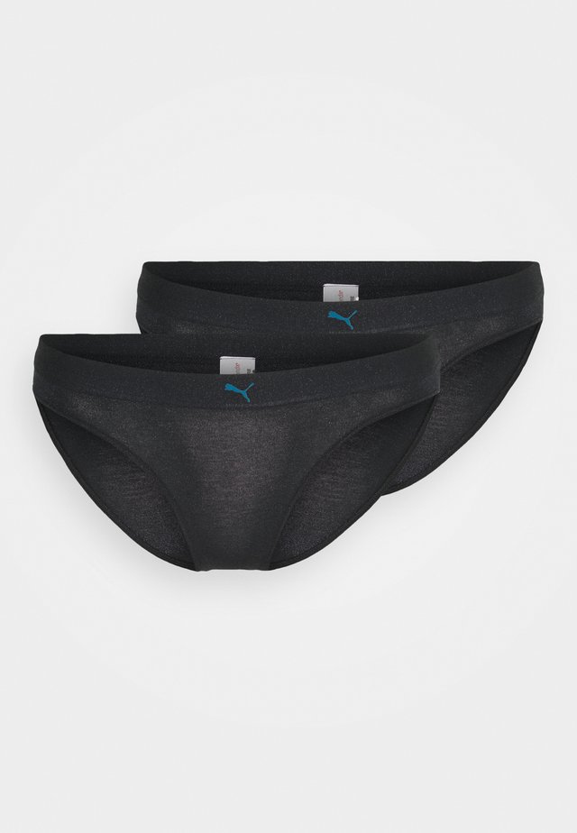 PUMA SPARKLING BIKINI 2 PACK - Briefs - blue / black