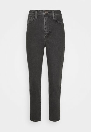 HIGH WAISTED - Vaqueros tapered - black denim