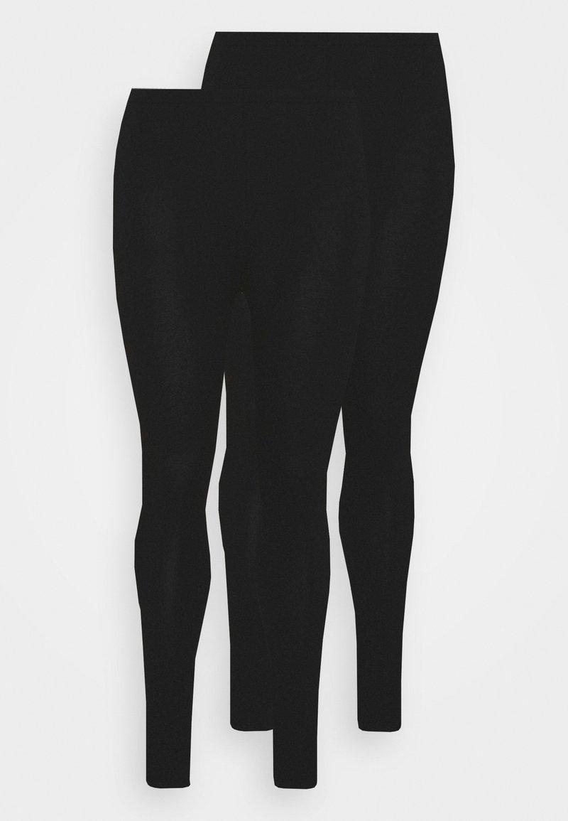 Vero Moda Curve - VMPAXI 2 PACK - Leggings - black