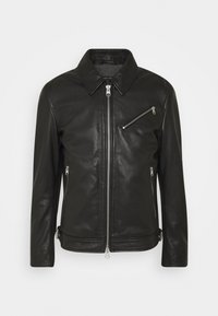 Marc O'Polo - JACKET REGULAR FIT LINED LONGSLEEVE - Leather jacket - black - 0