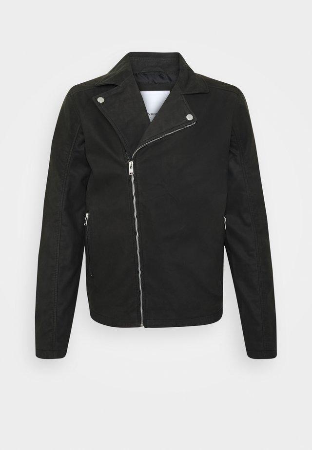 BIKER JACKET - Veste en cuir - black