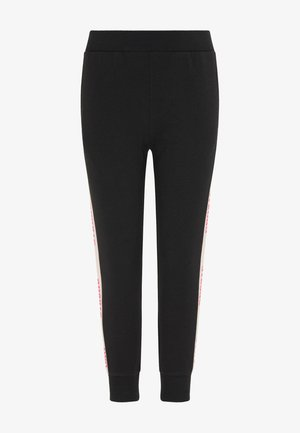 Leggings - Trousers - schwarz hellrosa