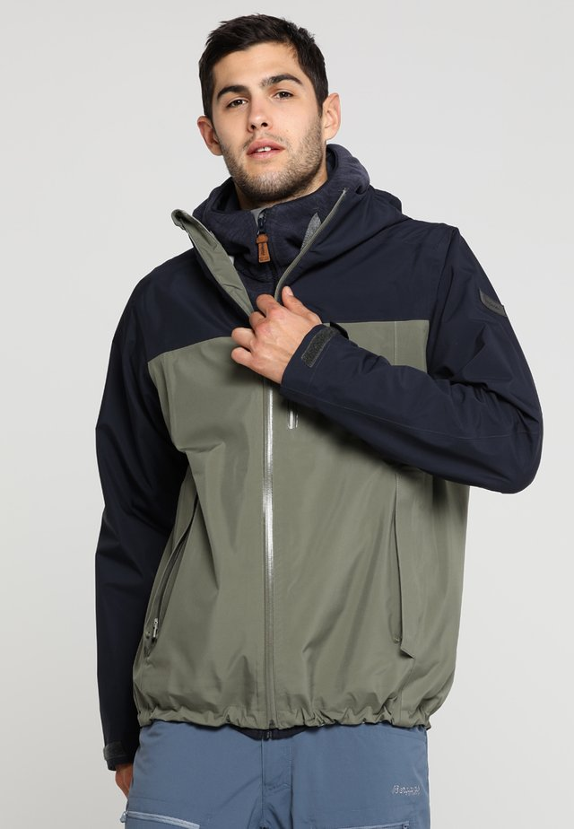 OSLO - Veste Hardshell - green mud/dark navy