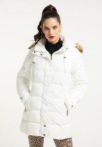 faina - Winter coat - wollweiss - 0