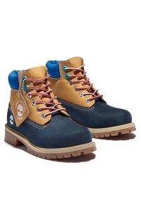 Timberland - Lace-up ankle boots - navy nubuck - 1