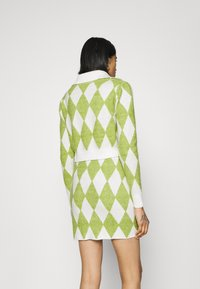 Glamorous - COLLAR CARDIGAN - Cardigan - green/off white - 2