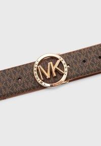 MICHAEL Michael Kors - REVERSIBLE BELT - Belt - brown/gold - 3