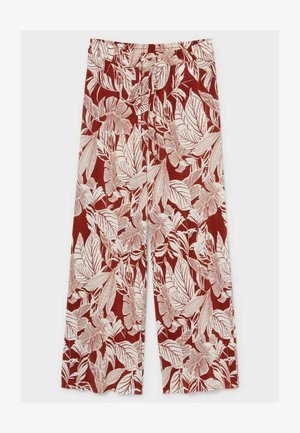 Trousers - white / red