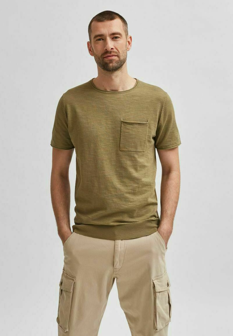 Selected Homme - Basic T-shirt - aloe