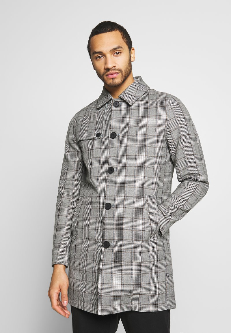 Only & Sons - ONSARCHER CARCOAT  - Trenchcoat - black/checks