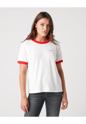 RELAXED RINGER - Print T-shirt - flame red