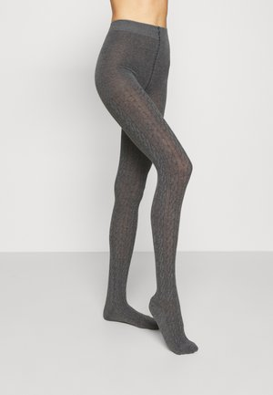 PLAIT - Tights - anthrazit meliert