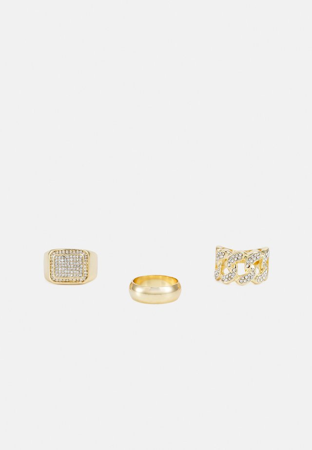 3 PACK - Prsten - gold-coloured