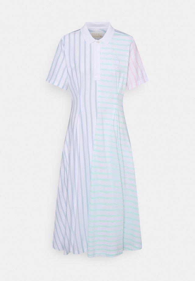 ICON BLOCK MIDIPOLO DRESS - Shirt dress - multi brenton/pastel icons