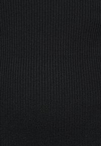 Missguided Petite - HIGH NECK MINI DRESS - Shift dress - black - 5