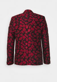 Twisted Tailor - FOSSA SUIT SET - Puku - black red - 14