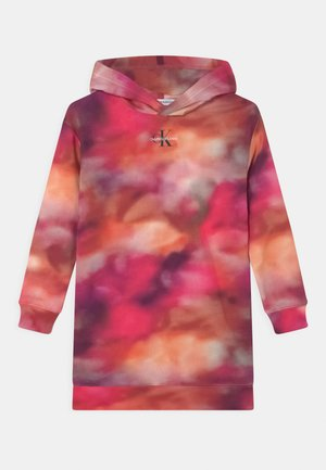 DISTORTED HOODIE DRESS - Day dress - pink