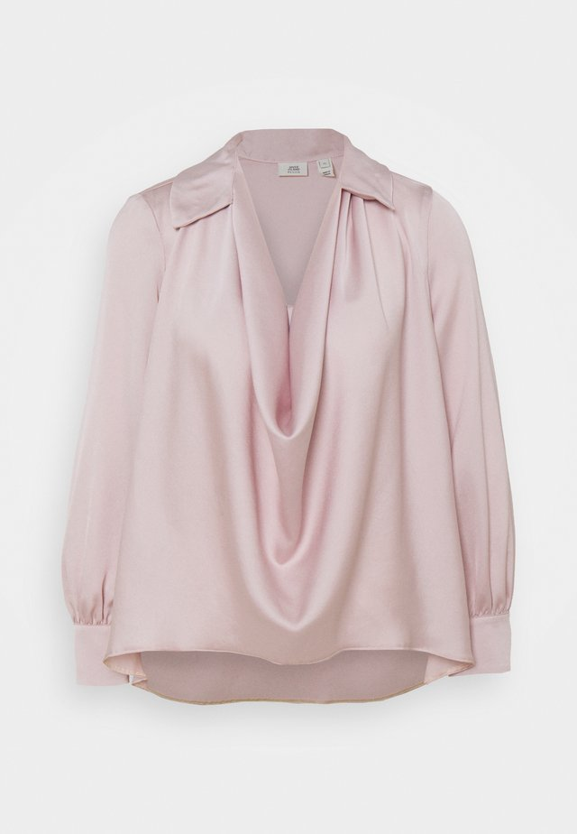 WRAP FRONT SHIRT - Blůza - pink light