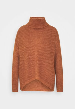 JDYNAGEEM MEGAN ROLLNECK  - Jersey de punto - brown/black