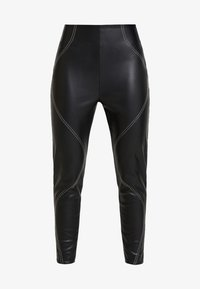 Missguided - CONTRAST STITCH TROUSERS - Stoffhose - black - 4