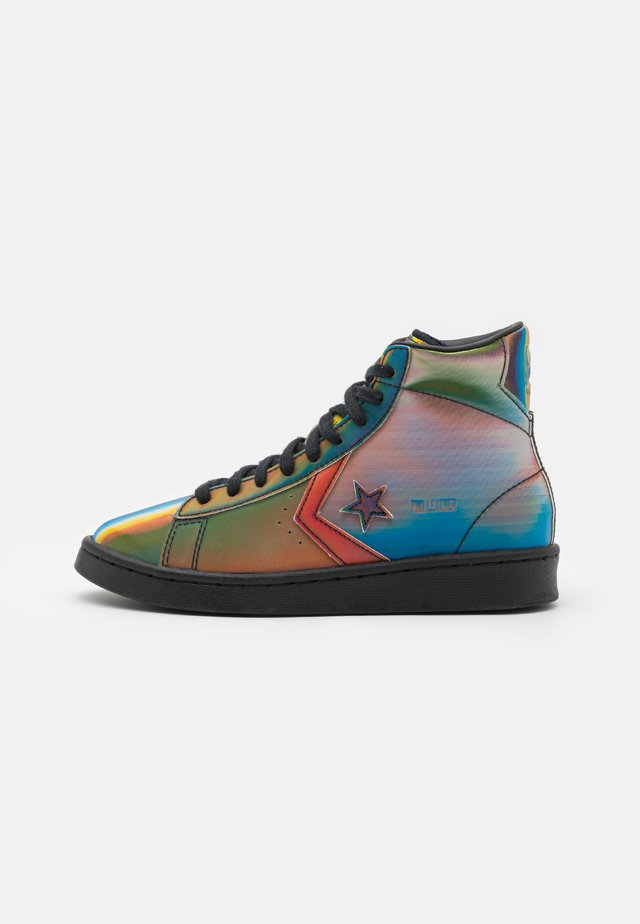 PRO IRIDESCENT UNISEX - High-top trainers - black/multicolor/white