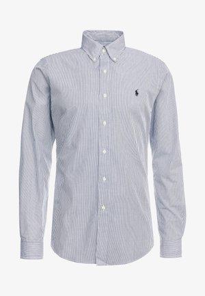 NATURAL SLIM FIT - Overhemd - black/white