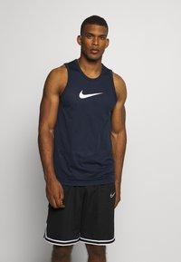 Nike Performance - DRY CROSSOVER - Sports shirt - obsidian/white - 0