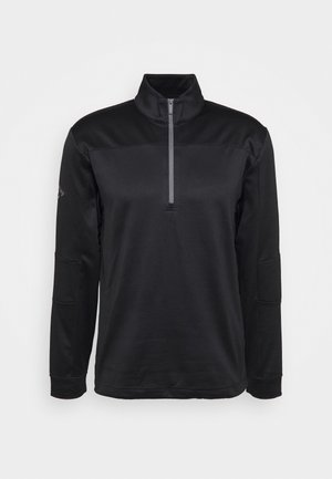 PIECED 1/4 ZIP - Mikina - caviar