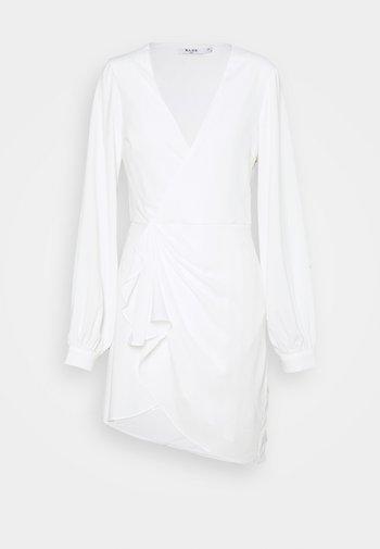 GATHERED OVERLAP DRESS