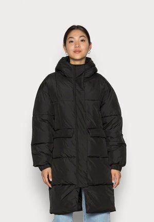LONG OVERSIZE PUFFER - Winter coat - black