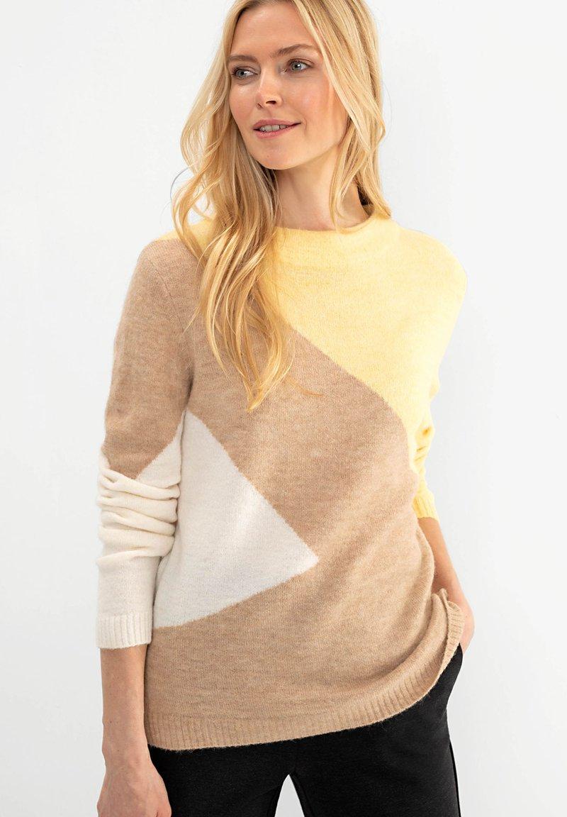 Olsen - Jumper - gelb-meliert