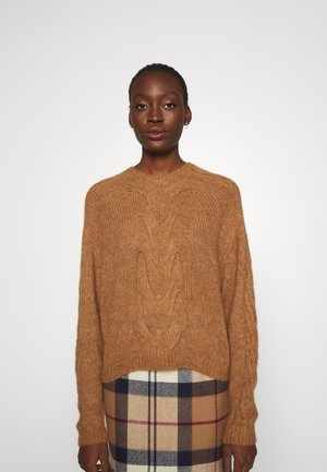 MIA CABLE SWEATER - Jumper - camel
