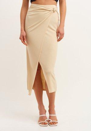 Wrap skirt - nutmeg